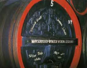 Старинная винная бочка в Майшосс