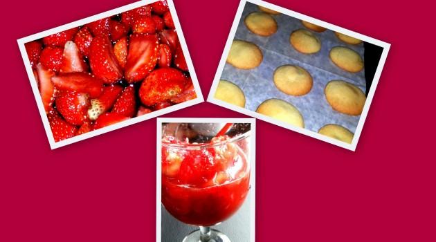 клубника в вине и печенье
