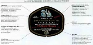 этикетки южно-африканских вин
