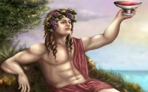 Дионис, бог виноделия и веселья.