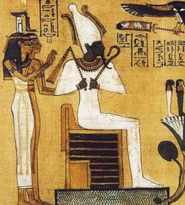 Осирис, бог виноделия египтян