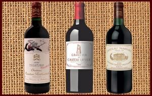 1999 Chateau Margaux 1995 Chateau Latour 1996 Chateau Mouton-Rothschild